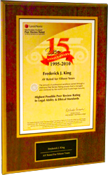 AWARD FRED KING